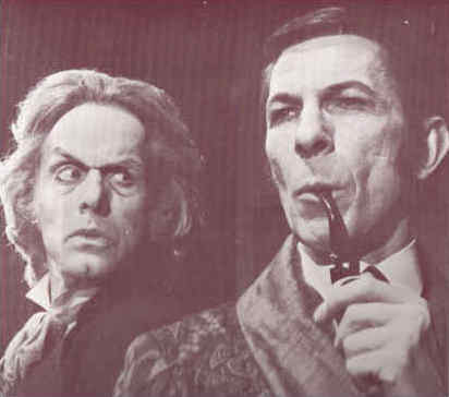 Nimoy as Holmes with Larabee