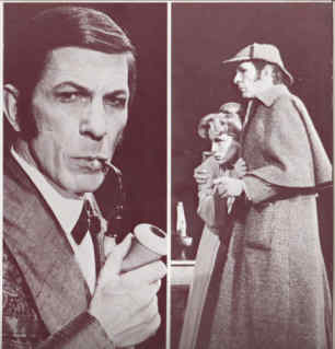 Leonard as Holmes with Alice